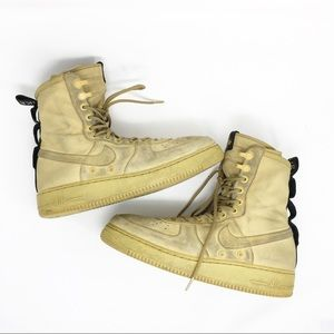 NIKE Air Force One SF AF-1 Wheat Sneakers Trainers
